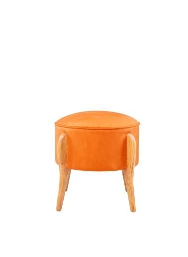 Ze10 Design Lockett Puf Turuncu Oranj